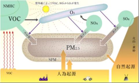 PM2.5の生成メカニズム